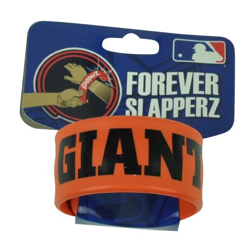 MLB San Francisco Giants Team Logo Forever Slapper Game Fan Accessories Bracelet
