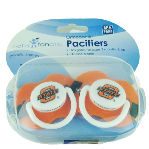 NCAA Oklahoma State Cowboys Orthodontic Pacifiers Infant Baby Fanatic 2 Piece