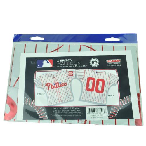 MLB Philadelphia Phillies Baseball Helium Jersey Balloon 23in Party Celebration