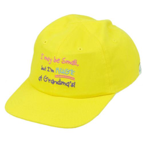 Utah State I May Be Small But Im Huge At Grandmas Toddler Yellow Hat Cap USA