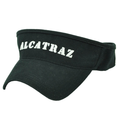 best service 982e4 024ad Alcatraz Island The Rock Prison California Sun Visor Black Hat State City  Cali