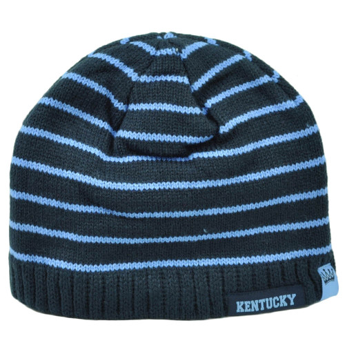 71077c7d81a Kentucky Youth Striped Navy Blue Cuffless Knit Beanie State USA Winter City