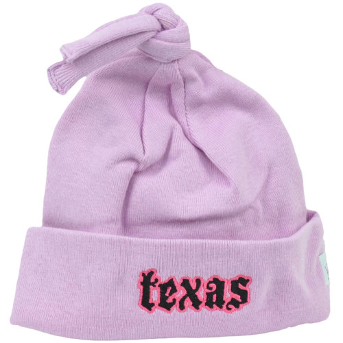 Texas Lone Star State USA Big Lilac Knit Beanie Infant Cuffed Baby Hat Cotton