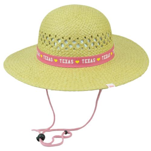 Texas The Lone Star State Big Round Tiller Sun Hat Paper Straw Women USA America