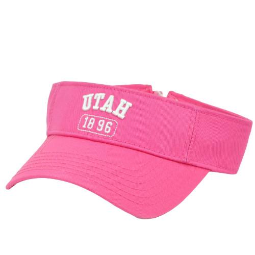 Utah 1896 Pink Beehive State Sun Visor Hat Womens Ladies Adjustable USA City