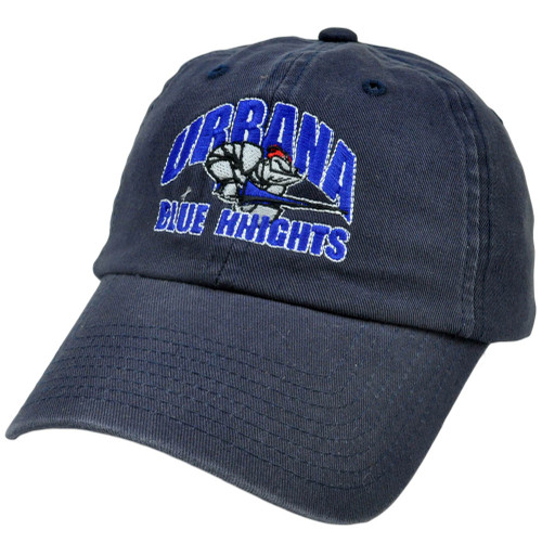 NCAA UU Urbana Blue Knights Slouched Relaxed Fit Top of World Licensed Hat Cap