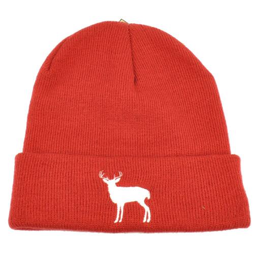 Alabama Bama Cuffed Knit Beanie Brick Hat Deer State Heart Dixie Skully Acrylic
