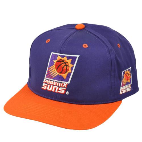 Phoenix Suns Mens Vintage Old School Hat Cap Purple Orange Snapback Basketball