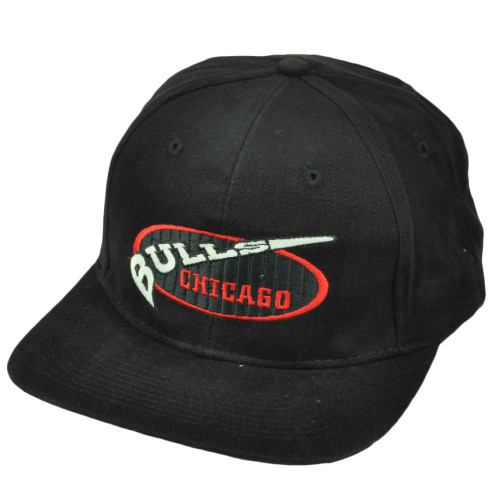 88e3bc41 Chicago Bulls Vintage Dead Stock Old School Black Hat Cap Snapback  Basketball