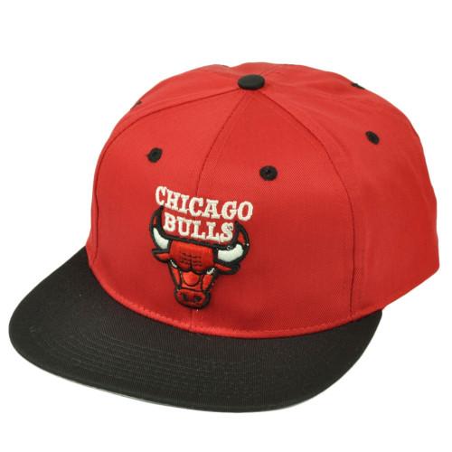 Chicago Bulls Dead Stock Vintage Snapback Hat Cap Old School Blck Red Basketball