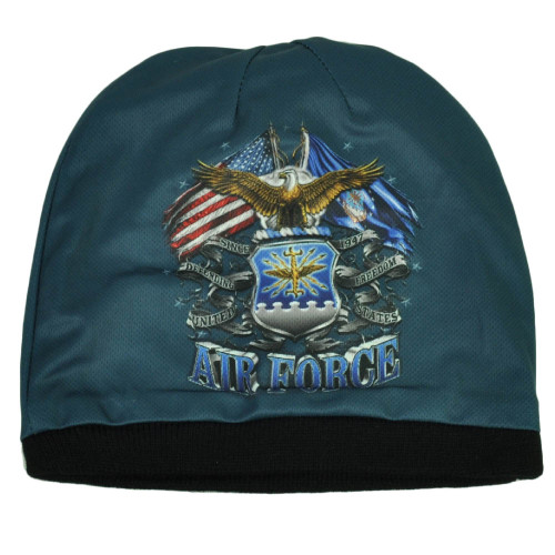 U.S Air Force United States Sublimated Knit Beanie Military Cuffless Defending