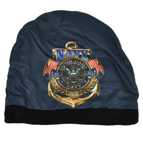 U.S Navy United States Sublimated Knit Beanie Military The Sea Is Ours Cuffless