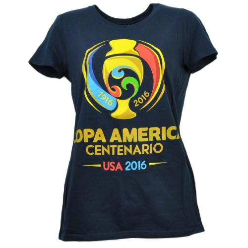 Copa America Centenario USA 2016 Tshirt Tee Soccer Futbol Womens Navy Blue Sport