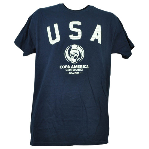USA United State Copa America Centenario 2016 Tshirt Tee Soccer Mens Navy Blue