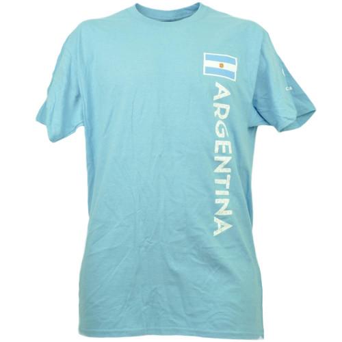 Argentina Copa America Centenario 2016 Tshirt Tee Soccer Futbol Mens Baby Blue