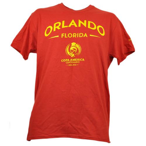 Orlando Copa America Centenario USA 2016 Tshirt Tee Soccer Futbol Mens Red Sport