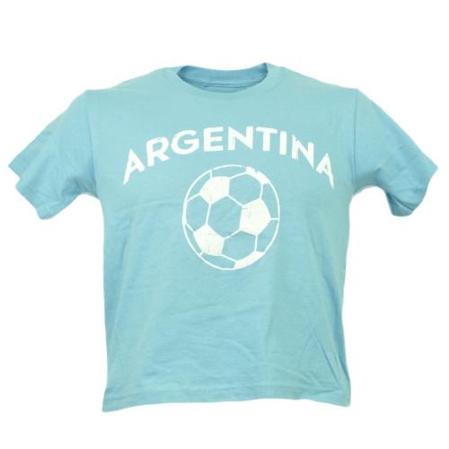 Argentina Copa America Centenario USA 2016 Tshirt Tee Soccer Futbol Kids Blue