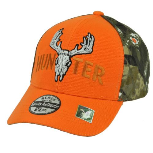 Hunter Two Tone Camouflage Orange Camo Camping Outdoor Sport Hat Cap  Hunt