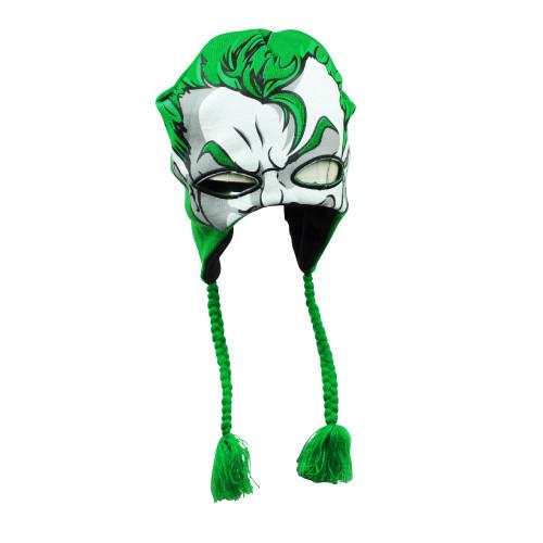 DC Comics Batman The Joker Warner Bros Peruvian Beanie Face Mask Tassel Hat