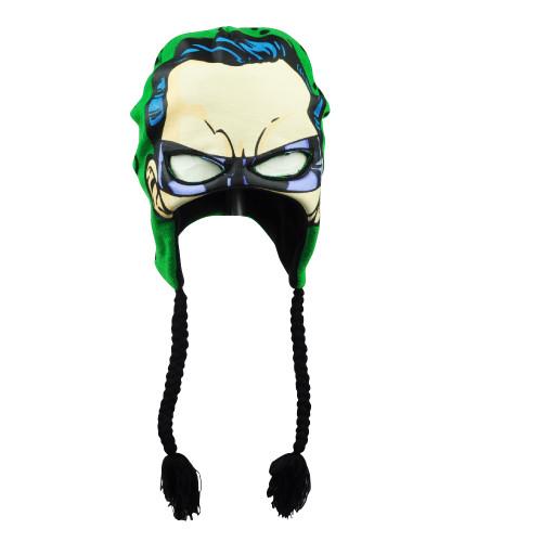 DC Comics Batman The Riddler Warner Bros Peruvian Beanie Face Mask Tassel Hat