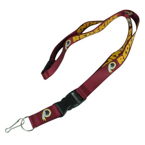 NFL Washington Red Skins Detachable Clip Key Chain Landyard Badge Holder Logo