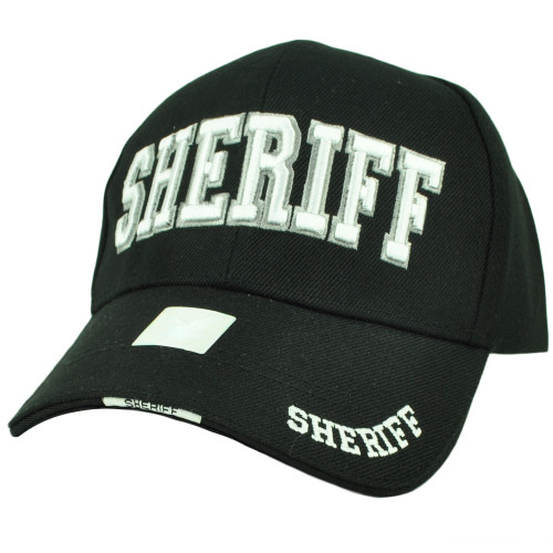 Sheriff County Deputy Police Law Enforcement Hat Cap Black Curved Bill Adjustable