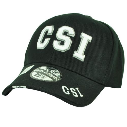 CSI Crime Scene Investigation Department Law Enforcement Hat Cap Black White