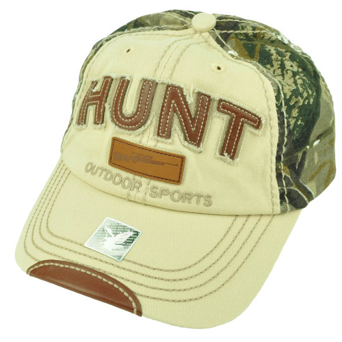 Outdoor Sports Hunt Hunting Distressed Camouflage Relaxed 2 Tone Hat Cap Season