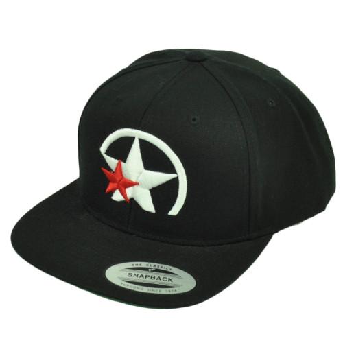 Power Star Branding Logo PBS Snapback Flat Bill Black Hat Cap Headgear Mens