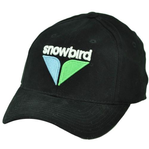 Snowbird Vacation Snow Board Ski Lodges Stretched Flex Fit S M Hat Cap Black 0b8625ea9c15