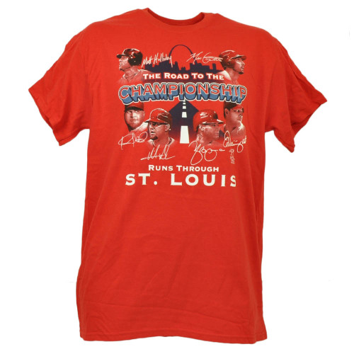 St Louis Cardinals Road to Championships Matt Holliday Red Tshirt Tee Crew Neck