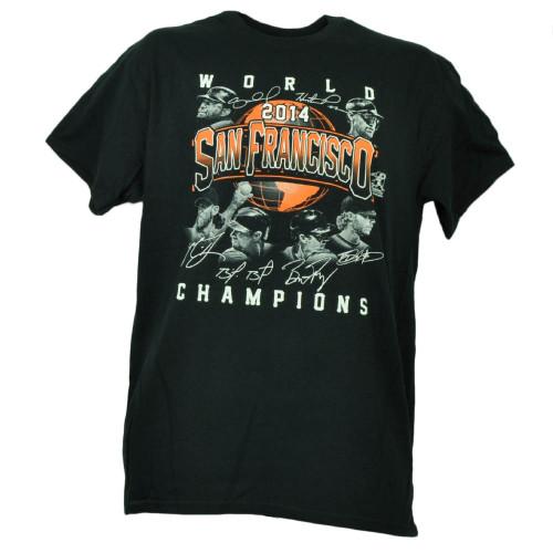 San Francisco Giants 2014 World Champions Player Signatures Mens Tshirt Tee