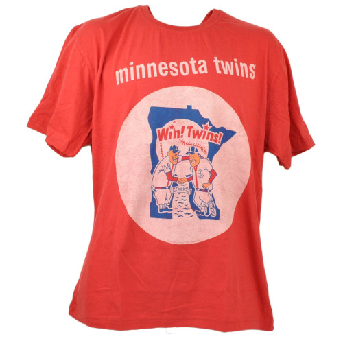 Minnesota Twins Wright Ditson Red Tshirt Tee Mens Short Sleeve Crew Neck Sports