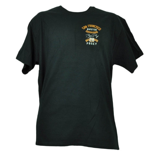 San Francisco Giants Buster Posey Large Tshirt Tee Black Mens Short Sleeve