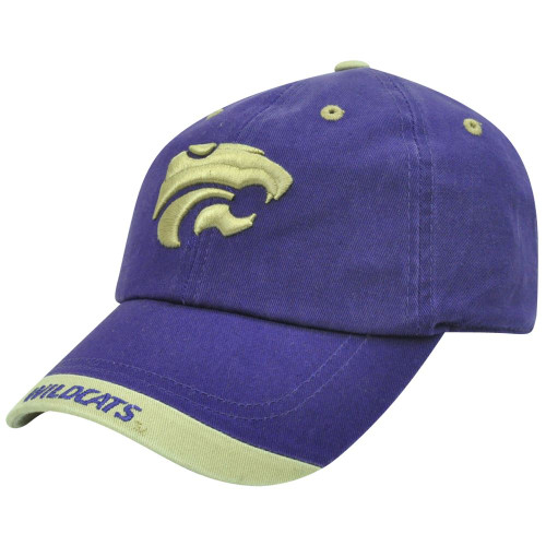 3038ab99a4926 NCAA Kansas State Wildcats Garment Washed Khaki Tip Purple Sun Buckle Hat  Cap