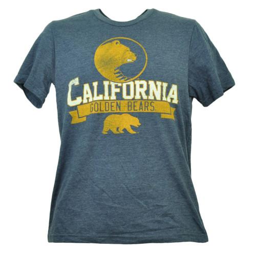 California Golden Bears Mens Tshirt Tee Navy Short Sleeve Crew Neck Distressed