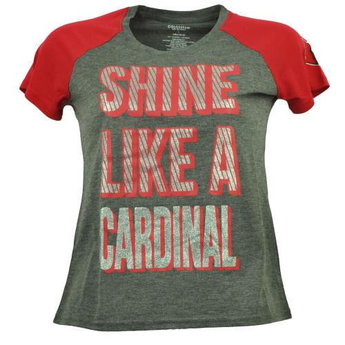 NCAA Louisville Cardinals Shine Like a Cardinal Youth Tshirt Tee Glitter Girls