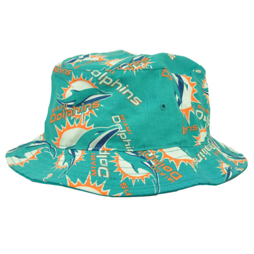 Miami Dolphins '47 Brand Forty Seven Bravado Bucket Hat Turquoise Repeat Logo