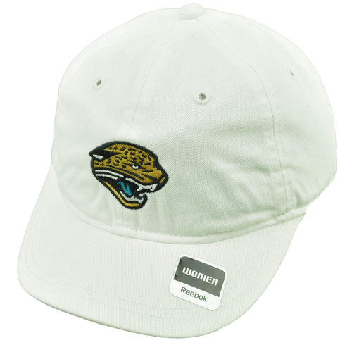 Jacksonville Jaguars Womens Hat Cap White Plaid Dots Under Visor Relaxed Football
