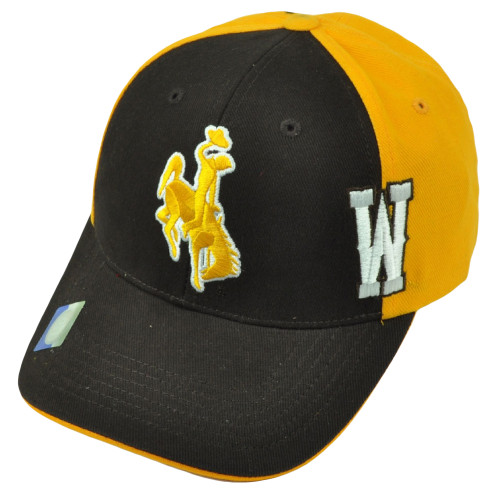12b71ee9c NCAA Wyoming Cowboys Two Tone Yellow Brown Hat Cap Adjustable Mens Curved  Bill