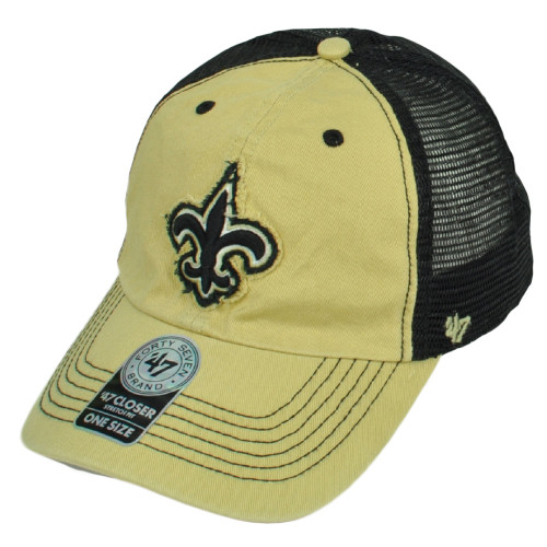 bb1e0ac060caf  47 Brand New Orleans Saints Distressed Mesh Flex Fit One Size Hat Cap Beige