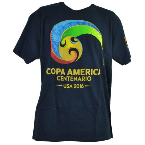 Copa America Centenario USA 2016 Mens Navy Tshirt Tee Soccer Futbol Short Sleeve
