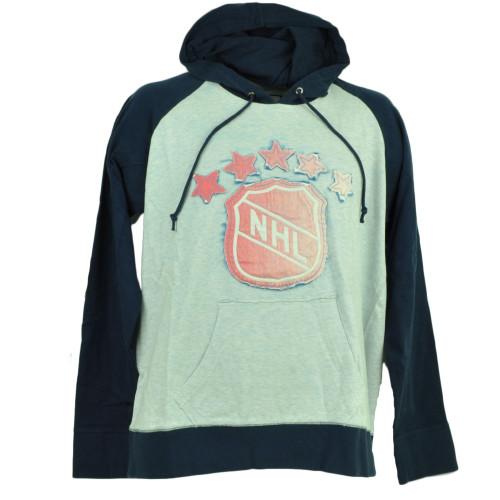 Red Jacket Hockey Hoodie Pullover Sweater Mens Navy Blue Winter Distressed