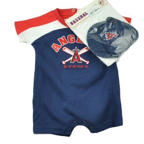 MLB Los Angeles Angels Lil All Stars Bodysuit Cap Set Baby Infant Clothing Sport