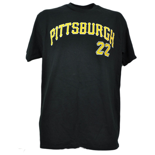 MLB Pittsburgh Pirates Andrew McCutchen 22 Tshirt Black Tee Mens Short Sleeve