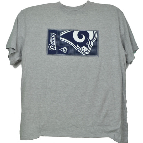 NFL Los Angeles Rams Gray Mens Tshirt Tee Crew Neck Short Sleeve Printed Logo
