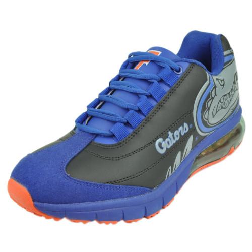 Mens Florida Gators Fergo Urban Sneaker Training Running Shoe Leather Blk Grey