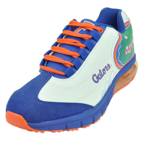 Mens Florida Gators Fergo Urban Sneaker Training Shoe Leather Suede Gator White