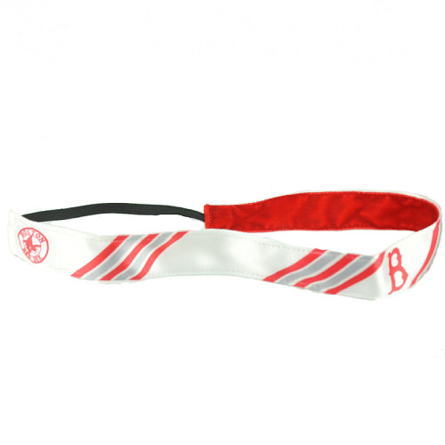 Boston Red Sox White Elastic Headband Womens Hair Accessory Baseball Spirit Game
