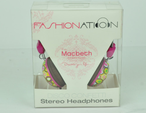 Disco Confetti Macbeth Collection Large Headphones Stereo Earphones MP3